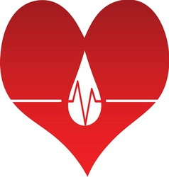 Heart line 01 resize vector image vector image