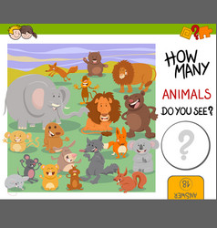 how many animals game vector image vector image