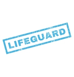 Lifeguard rubber stamp vector