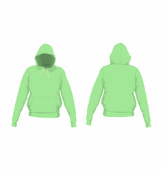 mens green hoodie vector image vector image