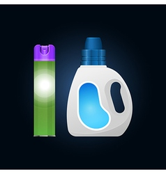 Plastic bottle and aerosol vector image