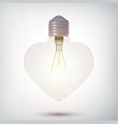 realistic glowing bulb concept vector image