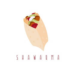 Shawarma gyros doner kabob isolated design vector
