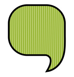 silhouette of rounded square speech in green vector image