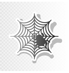 Spider on web new year vector