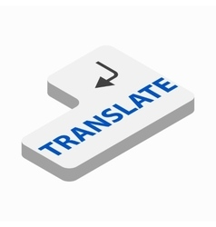 Translate button icon isometric 3d style vector image vector image