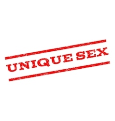Unique Sex Watermark Stamp vector image vector image