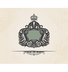 Vintage ornate shield vector image vector image