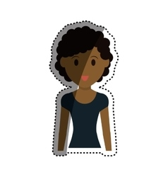 Woman cartoon isolated vector