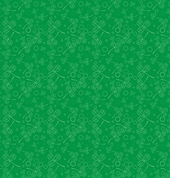 Clover leaves background St Patricks day Seamless vector image