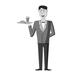 Waiter icon gray monochrome style vector image