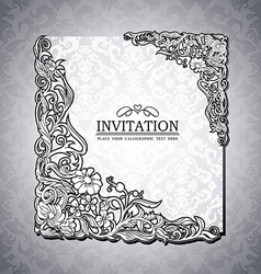 Vintage background antique victorian ornament vector