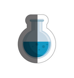 Tube test isolated icon vector