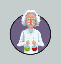 scientist physical with test tube laboratory vector image