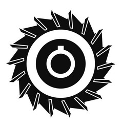 circular saw disk icon simple style vector image