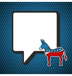 Usa democratic politic message vector