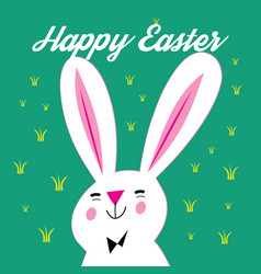 Greeting card with easter and bunny vector