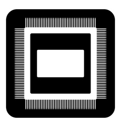 Microchip symbol button vector