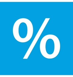 Percent white icon vector