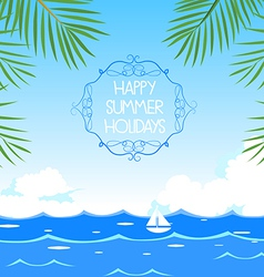 Happy summer holidays vector