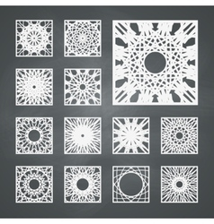 Square ornament set vector