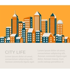 City flat style vector