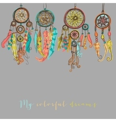Beautiful with dream catchers vector