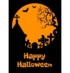 Halloween card with cript vector image