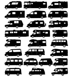Motorhome silhouettes vector image