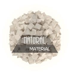 Natural materials banner vector