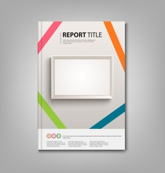 Brochures book or flyer with light boards template vector
