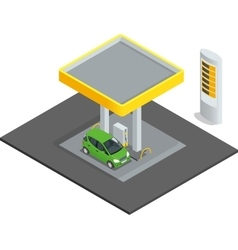 Small gas station gas petroleum petrol refill vector