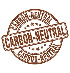 Carbon-neutral brown grunge round vintage rubber vector