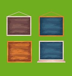 Wooden desks for game interface vector
