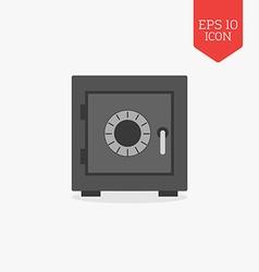 Security safe icon flat design gray color symbol vector