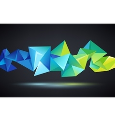 Abstract crystal 3d faceted geometric vector