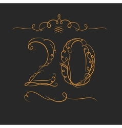 Anniversary 20th signs vector image