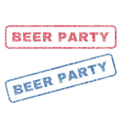 Beer party textile stamps vector