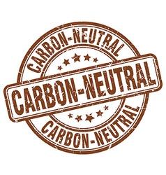 Carbon-neutral brown grunge round vintage rubber vector