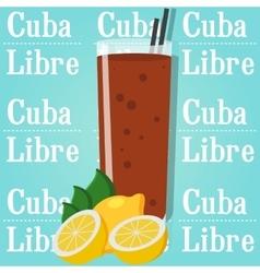 Cocktail cuba libre vector image