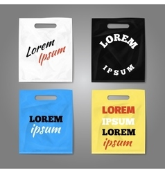 Color realistic plastic bags set vector