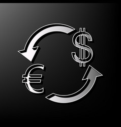 Currency exchange sign euro and dollar vector