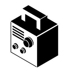 Electro welding machine icon simple black style vector
