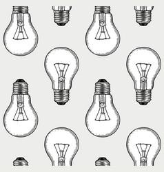 engraving light bulbs vector image vector image