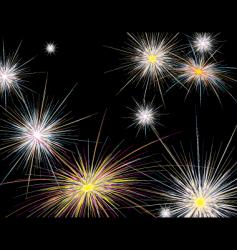 fireworks new year vector image vector image