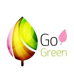 Go green Leaf nature concept vector image