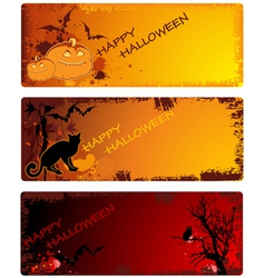 grunge halloween banners vector image