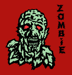 Head of the ghoul zombie vector