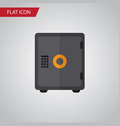Isolated safe flat icon strongbox element vector