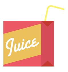 juice box icon flat style vector image